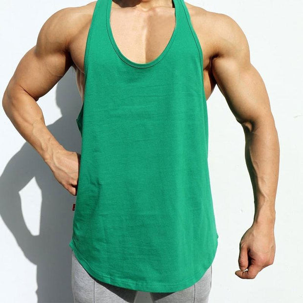 Men Solid Color Sport Sleeveless Vest
