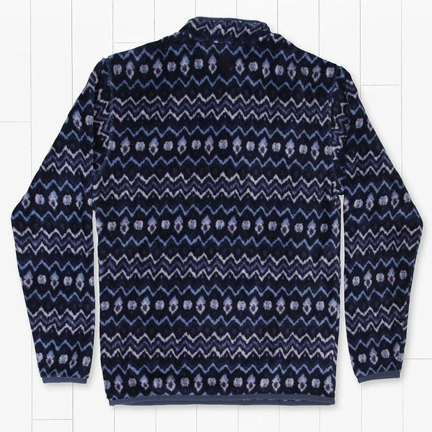 Man Casual Wave Printed  MidnightBlue Pullover