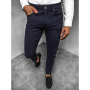 Man Casual Commuter Solid Color Pants