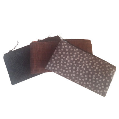 Makeup Bags (Black, Brown and Gray)