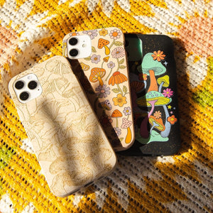 Seashell Shrooms and Blooms iPhone 13 Pro Case