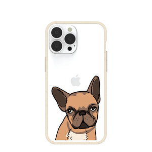Clear Frenchie Portrait iPhone 13 Pro Max Case With London Fog Ridge