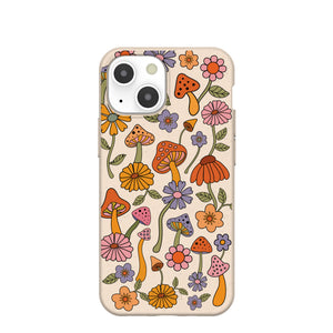 Seashell Shrooms and Blooms iPhone 13 Mini Case