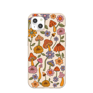 Seashell Shrooms and Blooms iPhone 13 Case