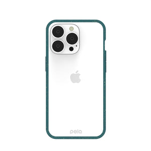 Clear iPhone 13 Pro Case with Green Ridge