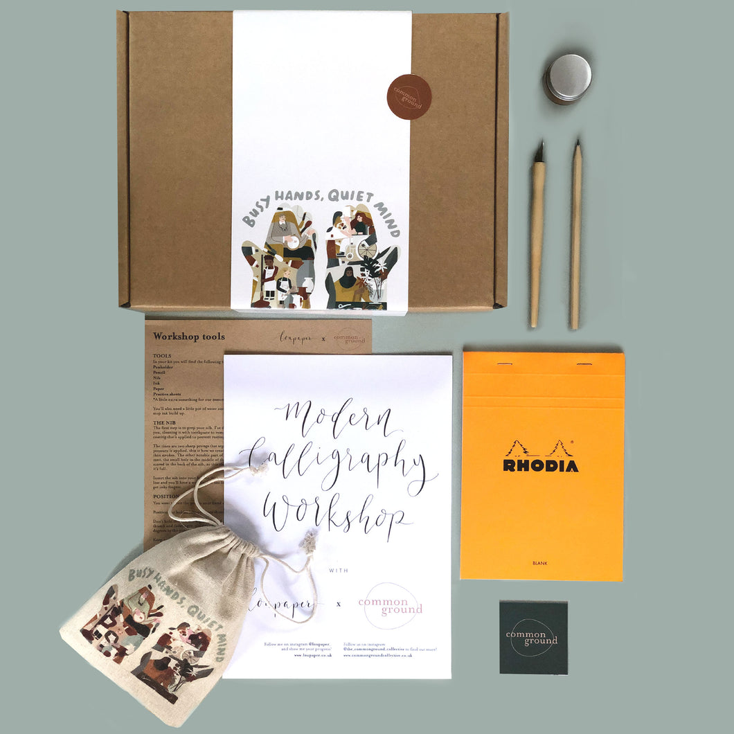 Busy Hands, Quiet Mind: Calligraphy Kit