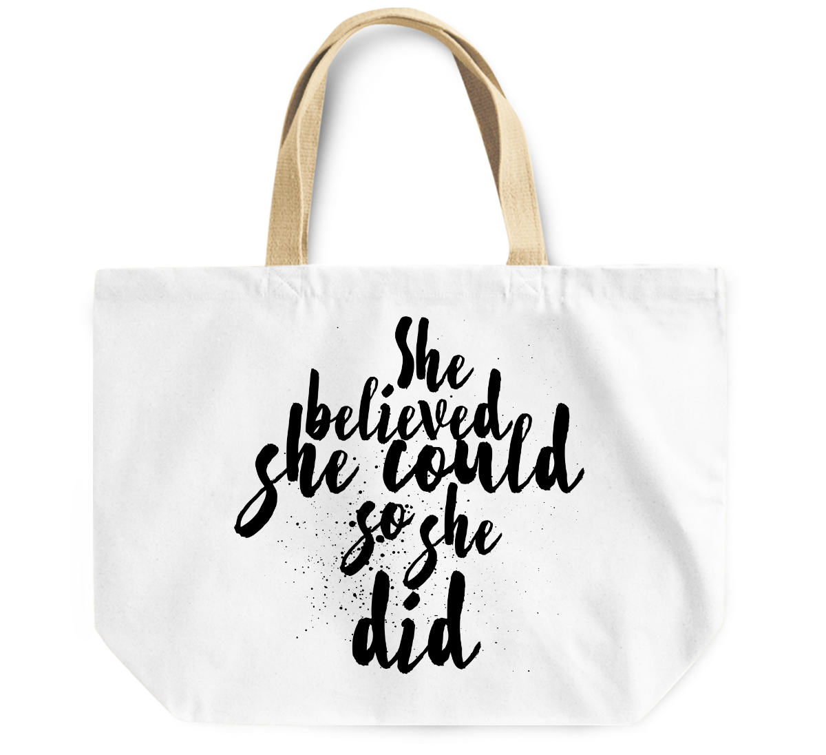 Tote Bag She believed she could so she did women bag By Loud Universe