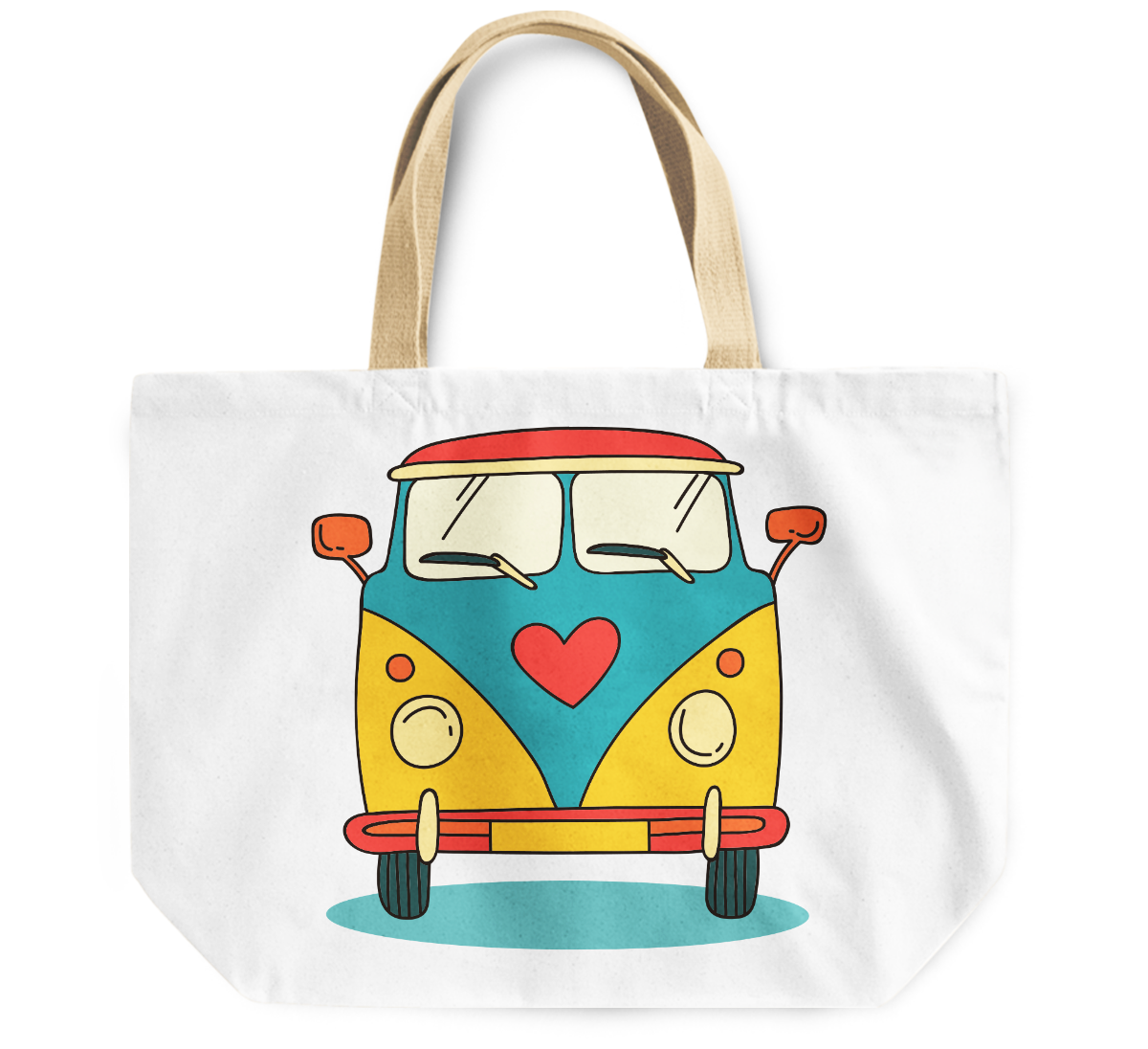 Tote Bag Volkswagon vintage van By Loud Universe