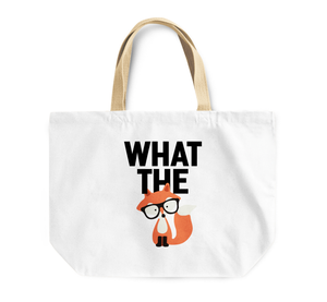Tote Bag What The Fox Nerdy Friend By Loud Universe