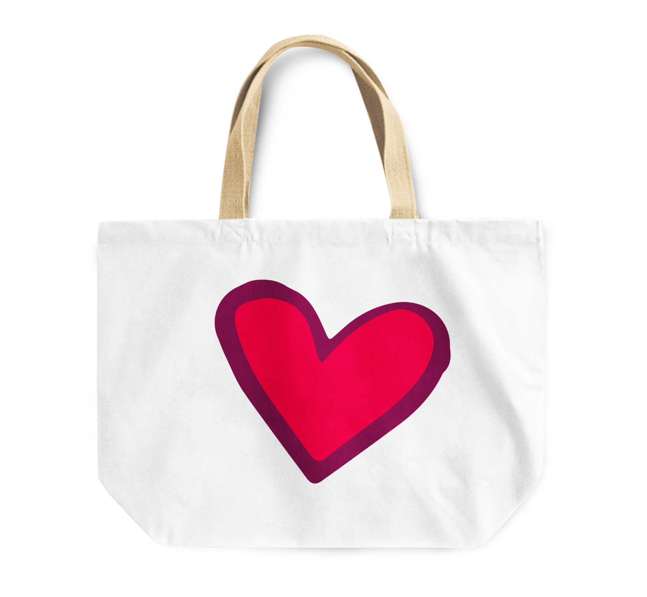 Tote Bag Heart Love Couples Reusable Shopping Bag By Loud Universe