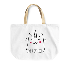 Tote Bag i Am a Caticorn Blushing Unicorn By Loud Universe