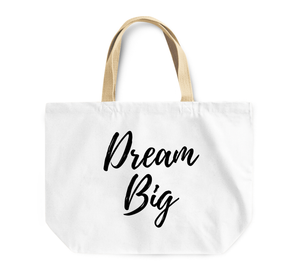 Tote Bag Dream Big Dreamers Reusable Shopping Bag By Loud Universe