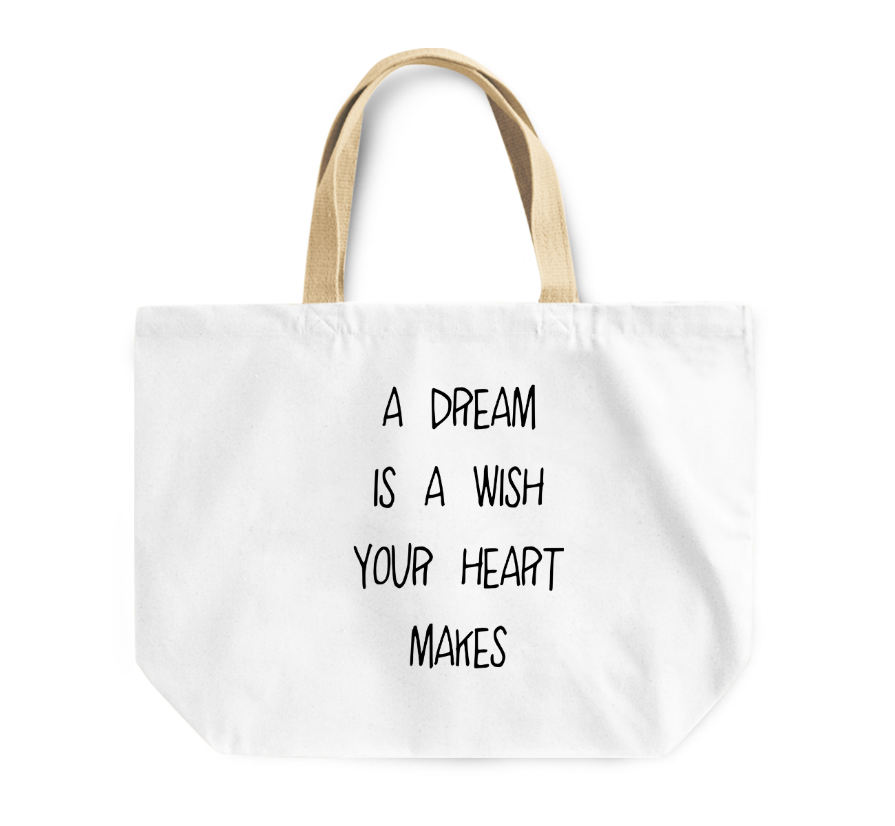 Tote Bag a Dream Is a Wish Your Heart Makes Dreamers Reusable Shopping Bag By Loud Universe