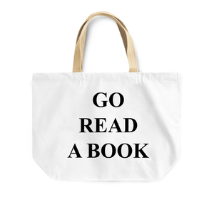 Tote Bag Go Read a Book Bed Reusable Shopping Bag Couch By Loud Universe