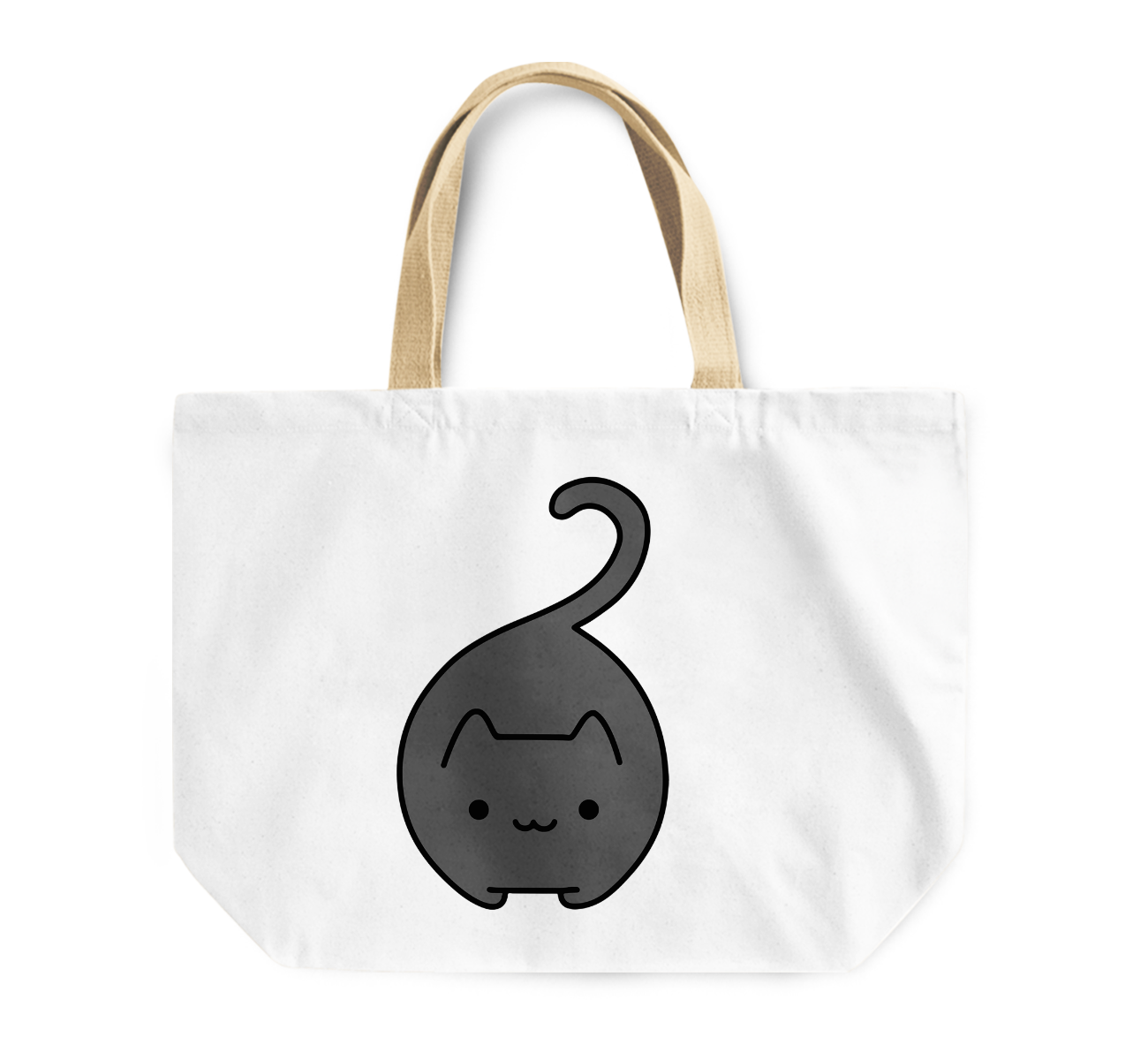 Tote Bag Fatty Kitty Cat Pet Reusable Shopping Bag By Loud Universe