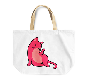 Tote Bag Witty Kitty Cat Reusable Shopping Bag Cleaning By Loud Universe