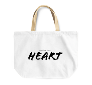 Tote Bag Follow Your Heart Brave Strong Youth Reusable Shopping Bag By Loud Universe