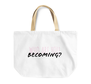 Tote Bag Who Are You Becoming Friends Reusable Shopping Bag By Loud Universe