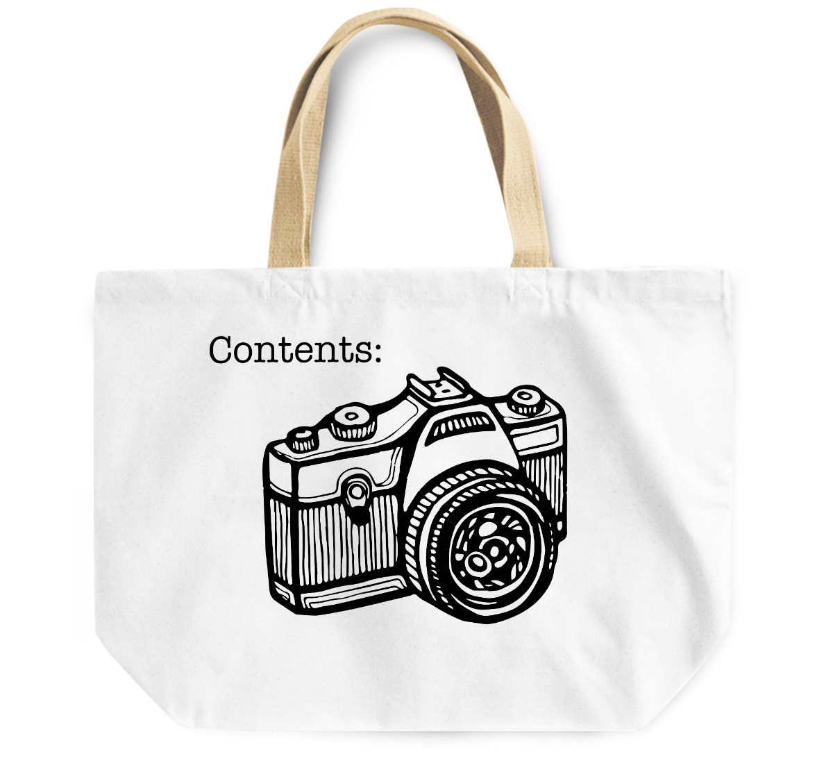Tote Bag Contents camera in bag By Loud Universe