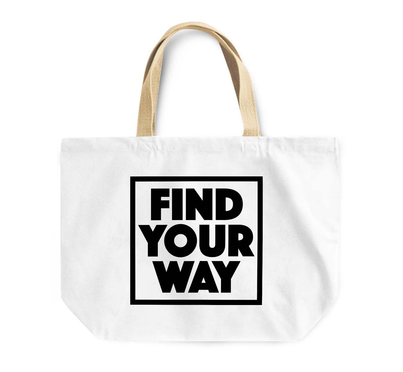 Tote Bag Find Your Way Positive Message Reusable Shopping Bag By Loud Universe