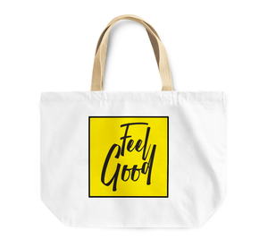 Tote Bag Feel Good Positive Message Good Vibes Reusable Shopping Bag By Loud Universe