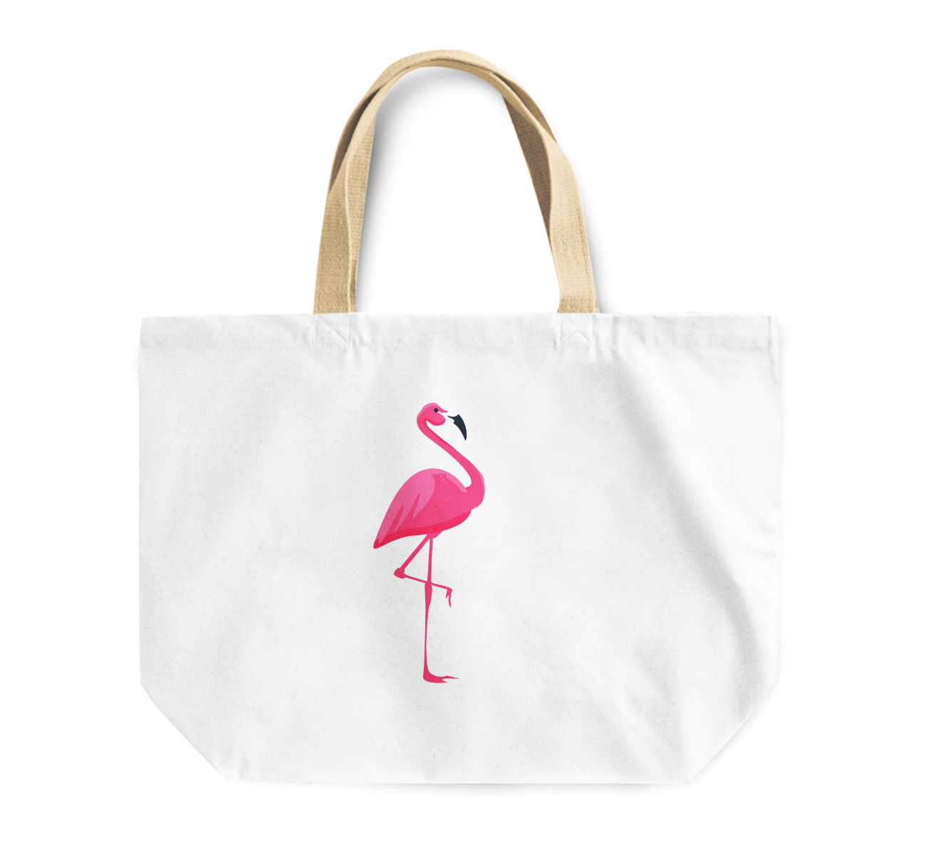 Tote Bag Pink Flamingo Reusable Shopping Bag By Loud Universe