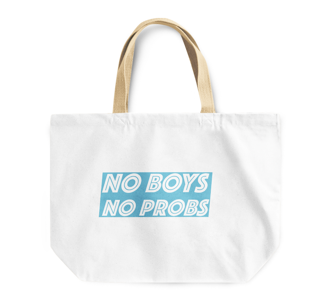 Tote Bag No Boys No Problems Best Friends Gift Funny Reusable Shopping Bag By Loud Universe