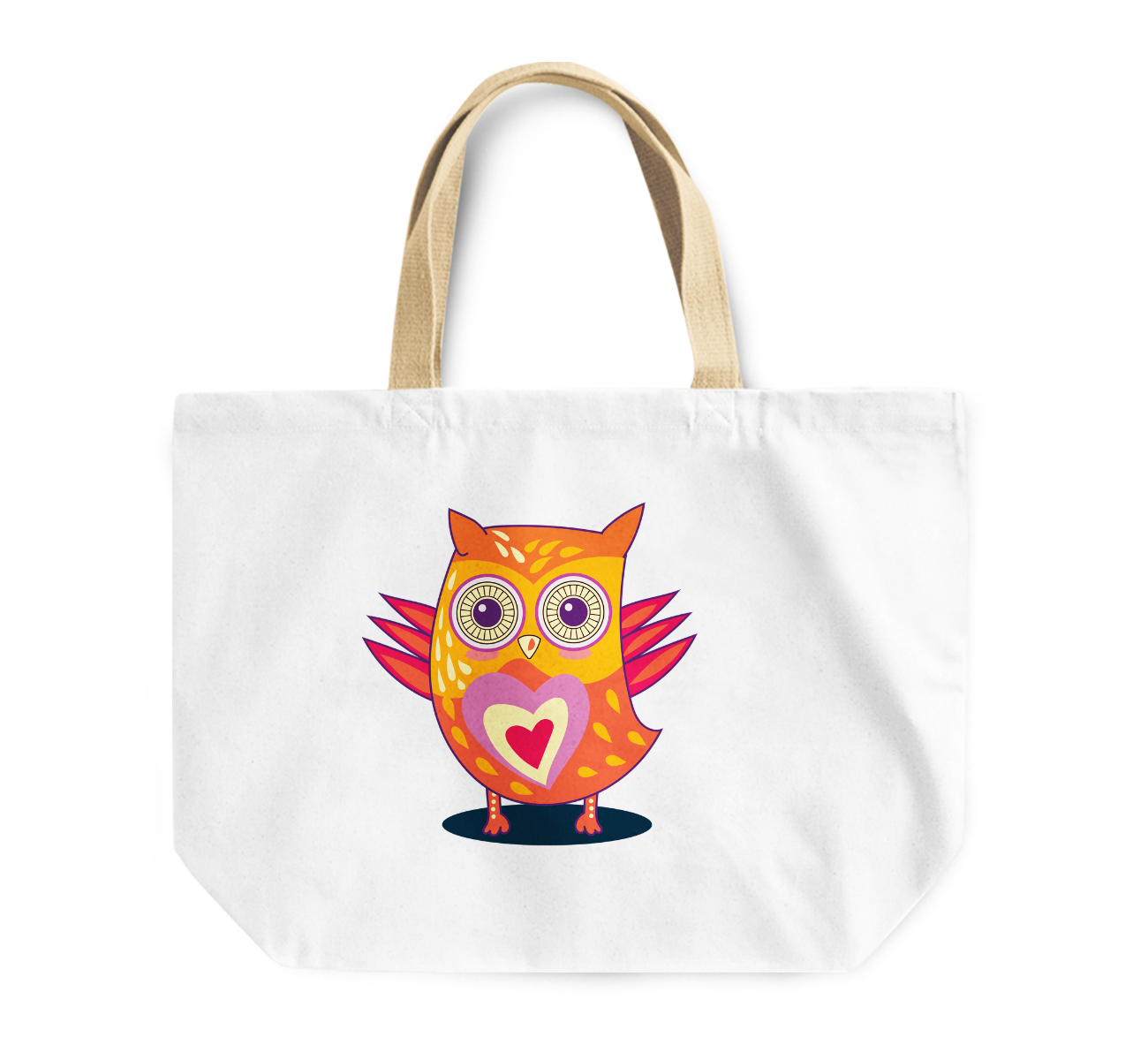 Tote Bag Cute Owl Reusable Shopping Bag Love Heart Couples Reusable Shopping Bag By Loud Universe