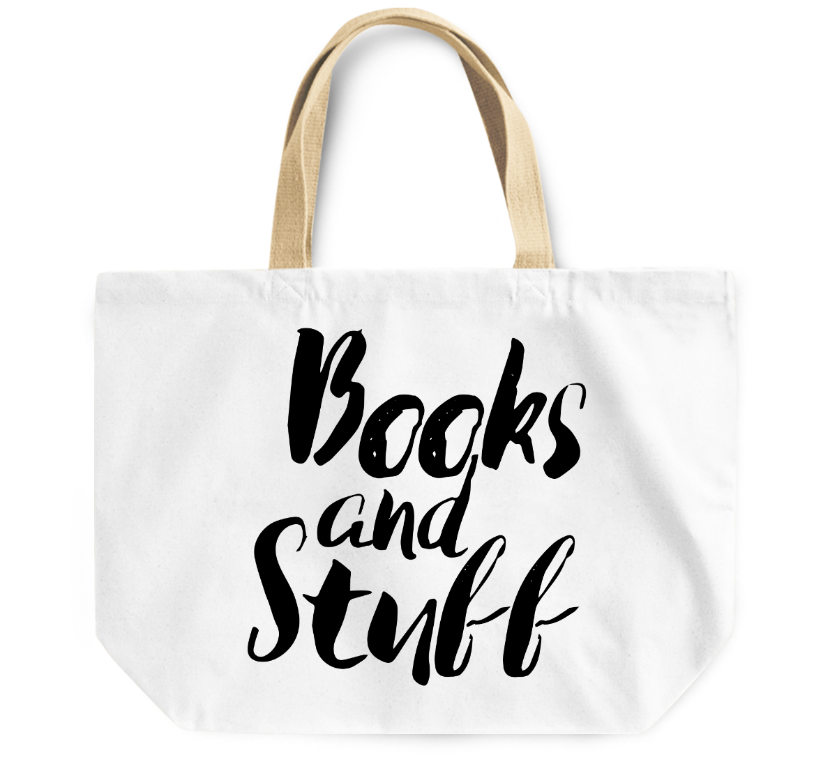 Tote Bag Books and stuff funny By Loud Universe