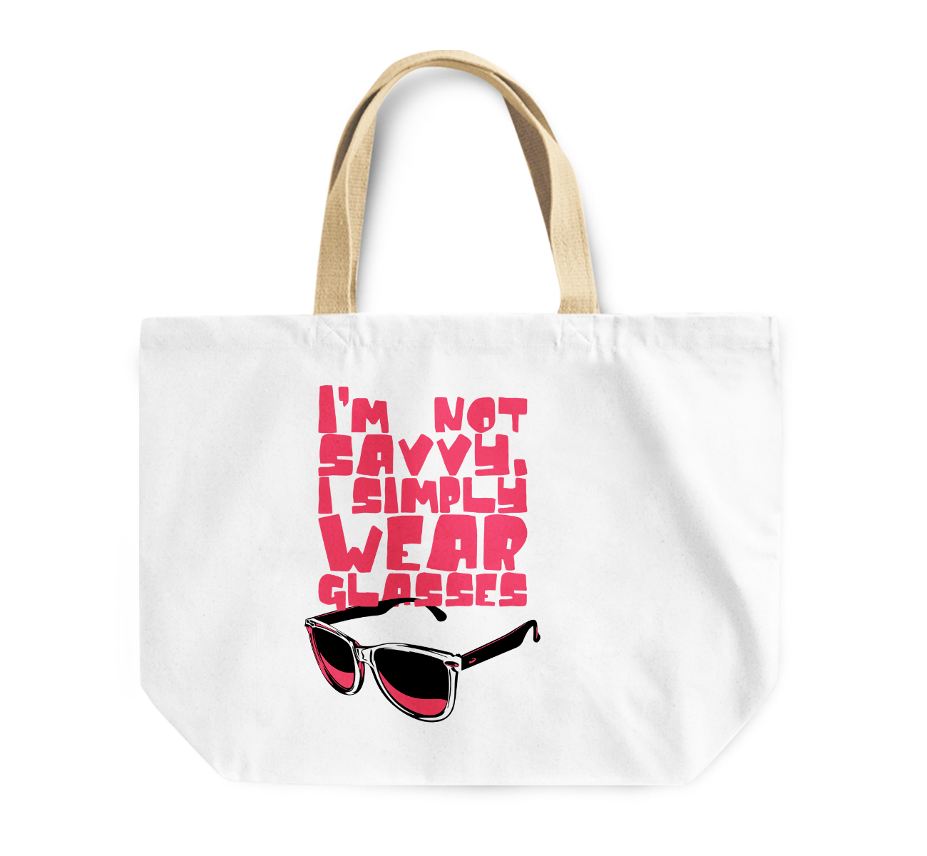 Tote Bag i Am Very Savvy Wear Shades Sunglasses Funny Reusable Shopping Bag For Teens By Loud Universe