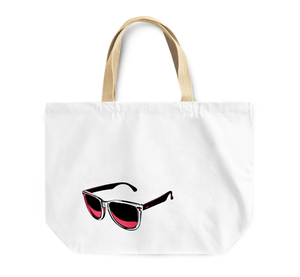 Tote Bag Sun Shades Sunglasses Summer Print Reusable Shopping Bag By Loud Universe
