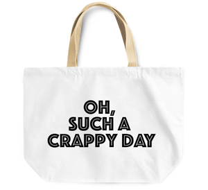 Tote Bag Oh such a crappy day By Loud Universe