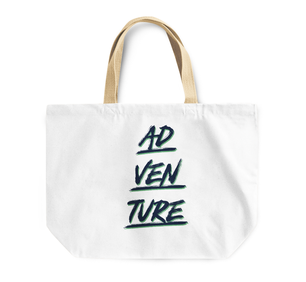 Tote Bag Adventure Seekers Out Going Reusable Shopping Bag With Words By Loud Universe
