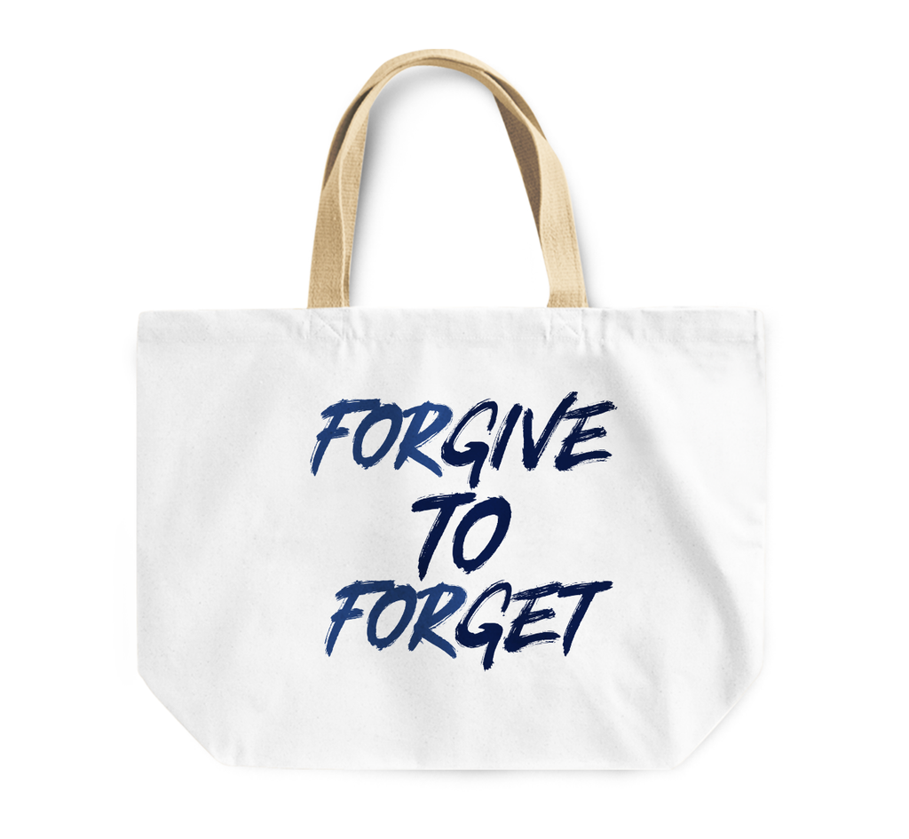 Tote Bag Forgive To Forget Wisdom Kindness Reusable Shopping Bag By Loud Universe