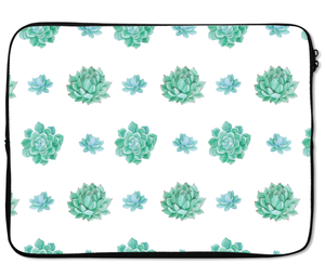 Laptops Tablet Sleeves Eucalyptus Flower Pattern Green Premium Quality Neoprene Laptop Protection