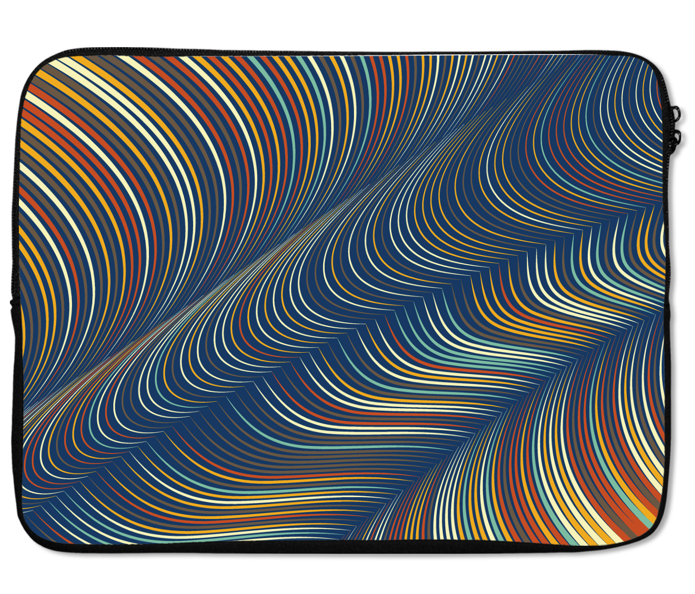 Laptops Tablet Sleeves Fabric Waves Pattern Premium Quality Neoprene Laptop Protection