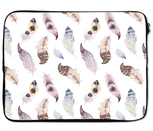 Laptops Tablet Sleeves Pretty Feather Pattern Premium Quality Neoprene Laptop Protection