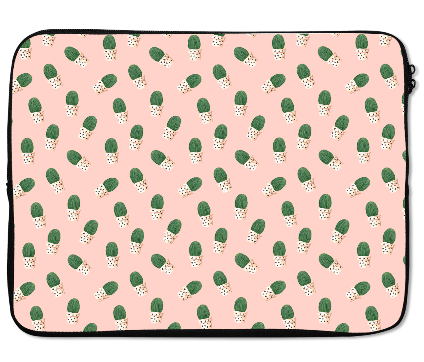 Laptops Tablet Sleeves Cactus Pattern Pink Premium Quality Neoprene Laptop Protection