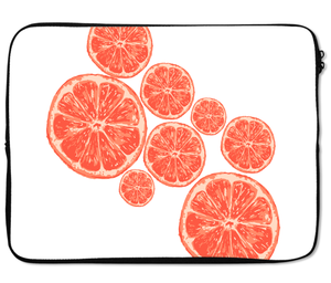 Laptops Tablet Sleeves Tangerine Fruit Slices Premium Quality Neoprene Laptop Protection