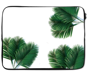 Laptops Tablet Sleeves Palm Leaves Tropical Premium Quality Neoprene Laptop Protection