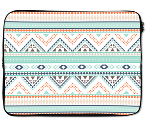 Laptops Tablet Sleeves Tribal Native Indian Style Patter Zig Zag Premium Quality Neoprene Laptop Protection