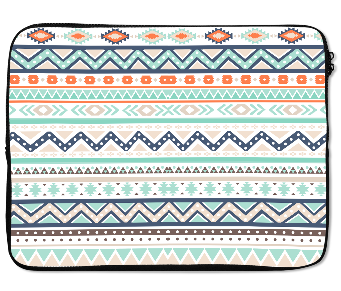 Laptops Tablet Sleeves Tribal Aztec White Soft Color Pattern Premium Quality Neoprene Laptop Protection