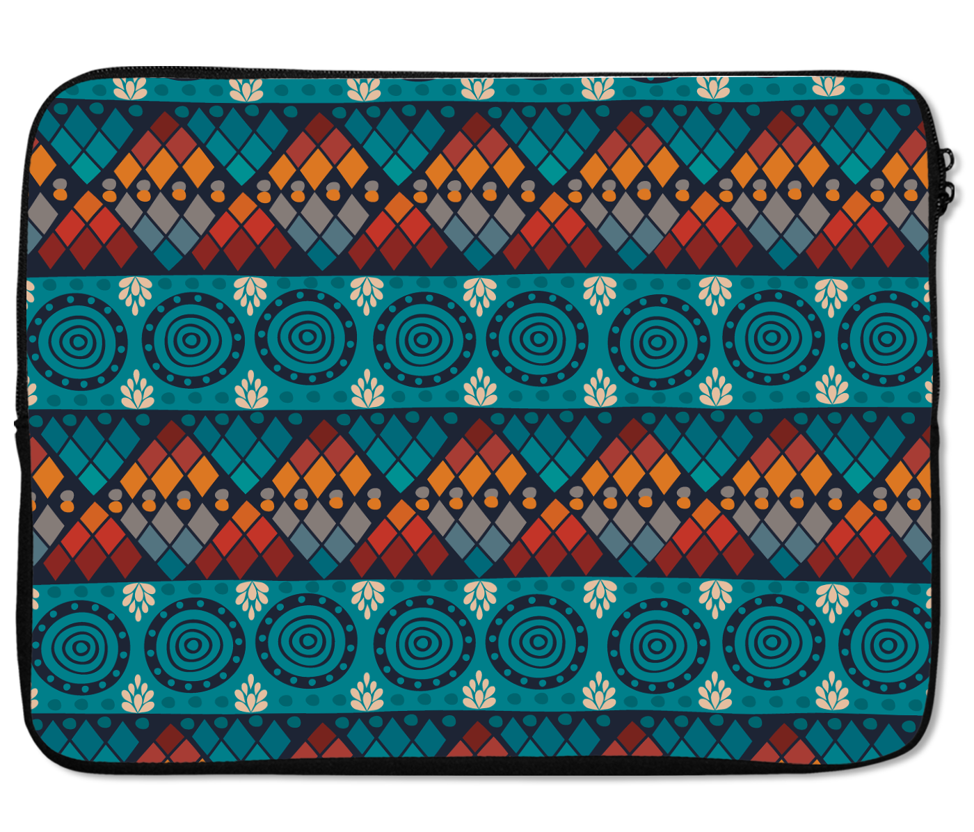 Laptops Tablet Sleeves Blue Ethnic Aftrican Pattern Premium Quality Neoprene Laptop Protection