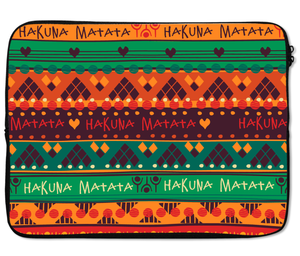 Laptops Tablet Sleeves Hakuna Matata Tribal Indian Style Teepee Pattern Premium Quality Neoprene Laptop Protection