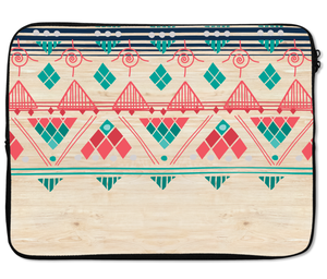 Laptops Tablet Sleeves Wood Teepee Tribal Native Pattern Premium Quality Neoprene Laptop Protection