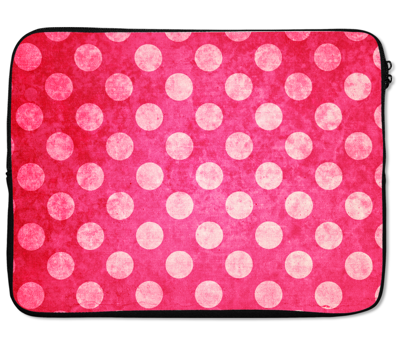 Laptops Tablet Sleeves Pretty Pink Fuchsia Polka Dot Pattern Premium Quality Neoprene Laptop Protection