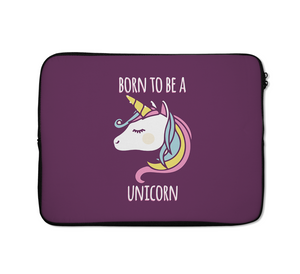 Laptop Sleeves Born To Be a Unicorn Colorful