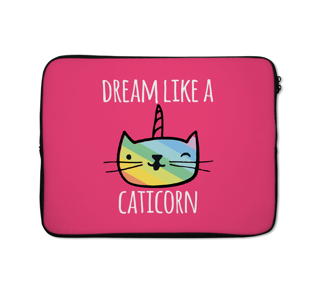Laptop Sleeves Dream Like a Caticorn Rainbow Unicorn