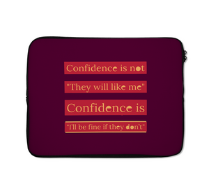 Laptop Sleeves Confidence Quote Teens