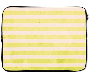 Laptops Tablet Sleeves Lime Stripes Premium Quality Neoprene Laptop Protection